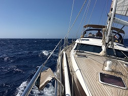 indigo blue sailing